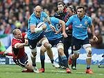 Sergio Parisse of Italy surges past - RBS 6Nations 2015 - Scotland  vs Italy - BT Murrayfield Stadium - Edinburgh - Scotland - 28th February 2015 - Picture Simon Bellis/Sportimage