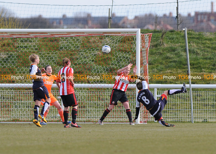 Liverpool's Katrin scores the winner - Sunderland Women vs Liverpool Women - FA Womens Cup Quarter-Final at the Academy of Light - 31/03/13 - MANDATORY CREDIT: Steven White/TGSPHOTO - Self billing applies where appropriate - 0845 094 6026 - contact@tgsphoto.co.uk - NO UNPAID USE.