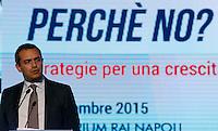 Il Sindaco di Napoli Luigi De Magistris partecipa ad un convegno di Confindustria a Napoli