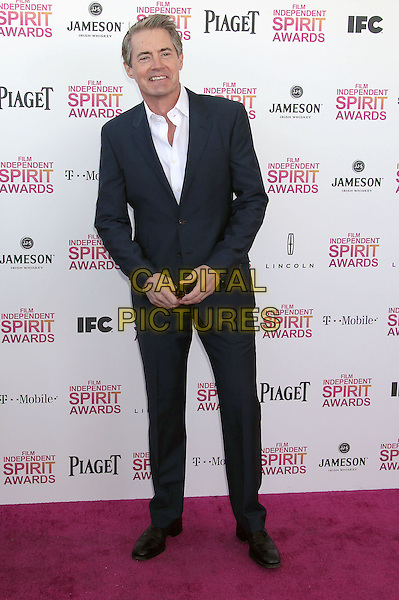 Kyle MacLachlan.2013 Film Independent Spirit Awards - Arrivals Held At Santa Monica Beach, Santa Monica, California, USA,.23rd February 2013..indy indie indies indys full length suit black suit jacket white shirt.CAP/ADM/RE.©Russ Elliot/AdMedia/Capital Pictures