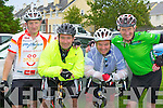 Tom Leonard, Liam O'Connor, Vivian Sheehan and Jerry Mulhane Killarney at the start of the Ring of Kerry cycle on Saturday....