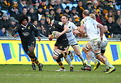 January 7th 2018, Ricoh Arena, Coventry, England;  Aviva Premiership rugby, Wasps versus Saracens;   James Gaskell on the charge for Wasps during the Aviva Premiership (Round 13) match between Wasps and Saracens rfc at the Ricoh Stadium