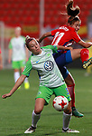 Atletico de Madrid's Marta Corredera (r) and VfL Wolfsburg's Zsanett Jakabfi during UEFA Womens Champions League 2017/2018, 1/16 Final, 1st match. October 4,2017. (ALTERPHOTOS/Acero)