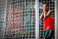 SÃO PAULO,SP,19 JULHO 2013 - TREINO PALMEIRAS -  Wesley durante treino do Palmeiras no CT da Barra Funda, zona oeste de Sao Paulo,na manhã sexta feira.O time se prepara para o jogo contra o Figueirense em Florianopolis no sabado (20).FOTO ALE VIANNA - BRAZIL PHOTO PRESS.