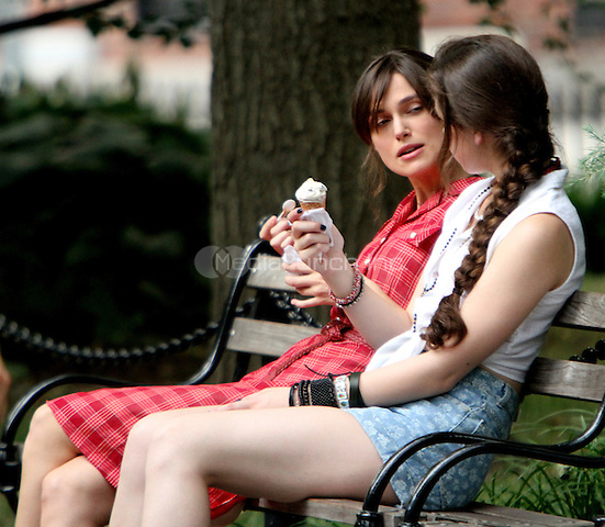 July 18, 2012 Keira Knightley and Hailee Steinfeld shooting on location for the new VH-1 movie Can a Song Save Your Life? in New York City. © RW/MediaPunch Inc.