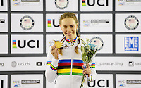 Picture by Simon Wilkinson/SWpix.com - 03/03/2017 - Cycling 2017 UCI Para-Cycling Track World Championships, Velosports Centre, Los Angeles USA - Simone Kennedy AUS winner