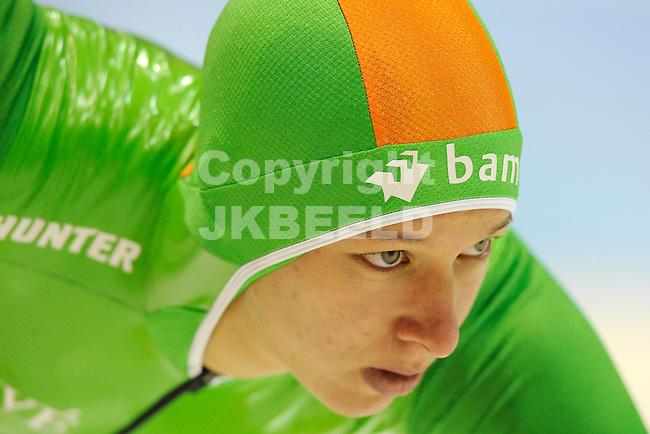 HEERENVEEN - Schaatsen,IJstadion Tialf,  NK afstanden,  1500 meter dames seizoen 2011-2012 , 06-11-2011 Janneke Ensing