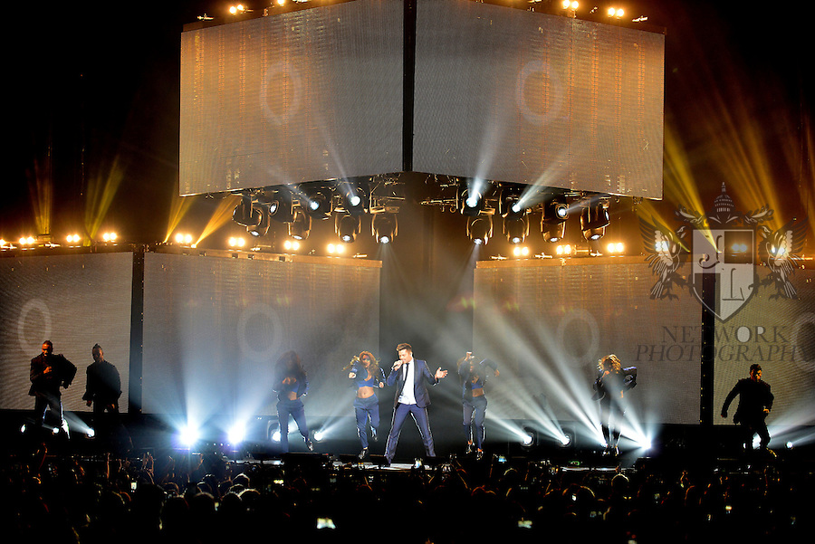 MIAMI, FL - OCTOBER 24: Ricky Martin performs onstage during his 'One World Tour' concert at American Airlines Arena on Saturday October 24, 2015 in Miami, Florida.  ( Photo by Johnny Louis / jlnphotography.com )
