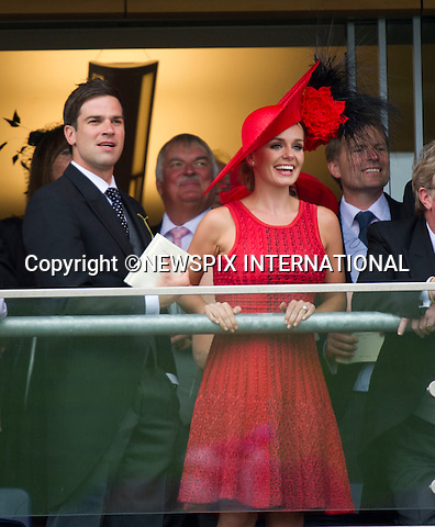 "ROYAL ASCOT 2011 DAY 2..Katherine Jenkins and Gethin Jones celebrate winning.  Royal Ascot_14/06/2011..Mandatory Photo Credit: ©Dias/Newspix International..**ALL FEES PAYABLE TO: ""NEWSPIX INTERNATIONAL""**..PHOTO CREDIT MANDATORY!!: NEWSPIX INTERNATIONAL(Failure to credit will incur a surcharge of 100% of reproduction fees)..IMMEDIATE CONFIRMATION OF USAGE REQUIRED:.Newspix International, 31 Chinnery Hill, Bishop's Stortford, ENGLAND CM23 3PS.Tel:+441279 324672  ; Fax: +441279656877.Mobile:  0777568 1153.e-mail: info@newspixinternational.co.uk"