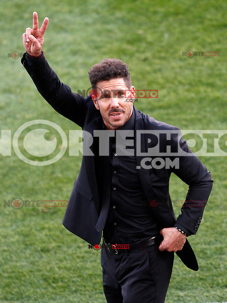 Atletico de Madrid's coach Diego Pablo Cholo Simeone celebrate goal during La Liga match. March 19,2017. (ALTERPHOTOS/Acero) /NORTEPHOTO.COM