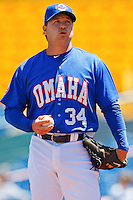 Matt Herges May 5th, 2010; Oklahoma CIty Redhawks vs Omaha Royals at historic Rosenblatt Stadium in Omaha Nebraska.  Photo by: William Purnell/Four Seam Images