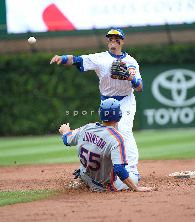 Chicago Cubs Javier Baez (9) during a game against the New York Mets on July 20, 2016 at Wrigley Field in Chicago, IL. The Cubs beat the Mets 6-2.