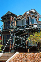 Los Angeles: House, 1325 Carroll Avenue, Angelino Heights. Eastlake/Queen Anne undergoing restoration. Photo '04.