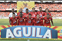 CALI - COLOMBIA-16-02-2019: Jugadores del América posan para una foto previo al partido por la fecha 5 de la Liga Águila I 2019 entre América de Cali y Deportivo Independiente Medellín jugado en el estadio Pascual Guerrero de la ciudad de Cali. / Players of America pose to a photo prior match for the date 5 as part of Aguila League I 2019 between America Cali and Deportivo Independiente Medellin played at Pascual Guerrero stadium in Cali. Photo: VizzorImage / Gabriel Aponte / Staff