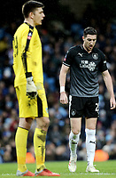 Burnley's Nick Pope (left) and Stephen Ward<br /> <br /> Photographer Rich Linley/CameraSport<br /> <br /> Emirates FA Cup Fourth Round - Manchester City v Burnley - Saturday 26th January 2019 - The Etihad - Manchester<br />  <br /> World Copyright © 2019 CameraSport. All rights reserved. 43 Linden Ave. Countesthorpe. Leicester. England. LE8 5PG - Tel: +44 (0) 116 277 4147 - admin@camerasport.com - www.camerasport.com