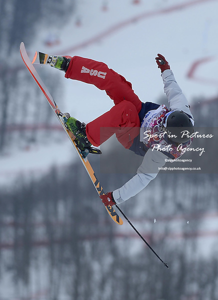 Julia Krass (USA). Womens Ski Slopestyle - Rosa Khuter Extreme Park - PHOTO: Mandatory by-line: Garry Bowden/SIPPA/Pinnacle - Photo Agency UK Tel: +44(0)1363 881025 - Mobile:0797 1270 681 - VAT Reg No: 768 6958 48 - 110214 - 2014 SOCHI WINTER OLYMPICS - Olympic park, Sochii, Russia