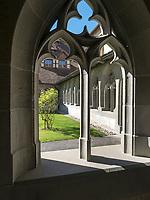 Kreuzgang, Kloster zum heiligen Georg, Stein am Rhein, Kanton Schaffhausen, Schweiz<br /> cloister, Saint George's Abbey in Stein am Rhein, Canton Schaffhausen, Switzerland