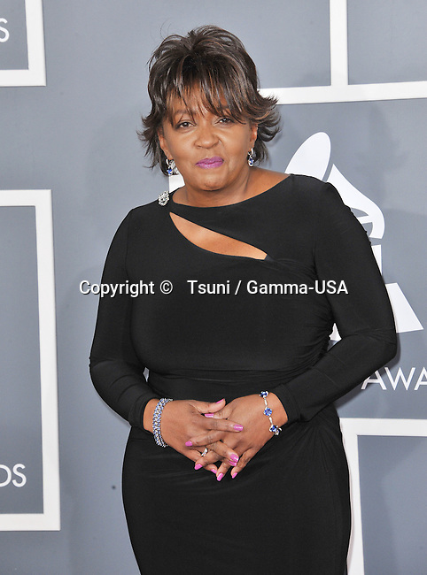 Anita Baker at  the 55th Ann. Grammy Awards 2013 at the Staples Center in Los Angeles.