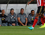 Hartlepool United 0 Sunderland 3, 20/07/2016. Victoria Park, Pre Season Friendly. Sam Allardyce Manager of Sunderland watches the game. Photo by Paul Thompson.