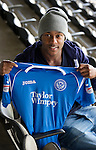 Jennison Myrie-Williams pictured at McDiarmid Park today after signing for St Johnstone...14.09.10.see story by Robert Thompson  Tel: 07841 330326.Picture by Graeme Hart..Copyright Perthshire Picture Agency.Tel: 01738 623350  Mobile: 07990 594431