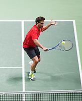 Februari 13, 2015, Netherlands, Rotterdam, Ahoy, ABN AMRO World Tennis Tournament, Marc Lopez (ESP)<br /> Photo: Tennisimages/Henk Koster