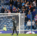 Derek McInnes applauds the Rangers supporters at full time