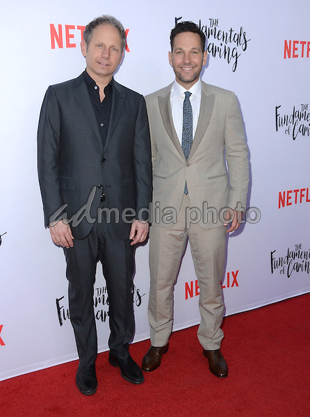 "23 June 2016 - Hollywood. Rob Burnett, Paul Rudd. Arrivals for the Los Angeles special screening of Netflix's ""The Fundamentals Of Caring"" held at ArcLight Hollywood. Photo Credit: Birdie Thompson/AdMedia"