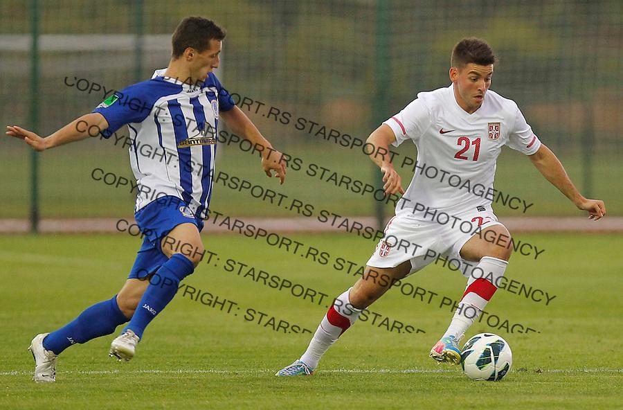 Fudbal Soccer<br /> Friendly match<br /> Serbia v Dunav <br /> Filip Djordjevic<br /> Novi Sad, 30.05.2013.<br /> foto: Srdjan Stevanovic/Starsportphoto &copy;