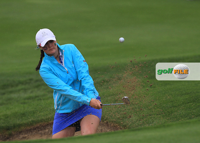 Olivia Mehaffey on the 7th during the Friday afternoon Fourballs of the 2016 Curtis Cup at Dun Laoghaire Golf Club on Friday 10th June 2016.<br /> Picture:  Golffile | Thos Caffrey