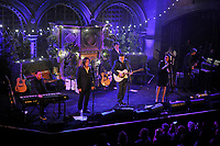 LONDON, ENGLAND - SEPTEMBER 28: Russell Crowe and Samantha Barks of 'Indoor Garden Party' performing at Union Chapel on September 28, 2017 in London, England.<br /> CAP/MAR<br /> &copy;MAR/Capital Pictures /MediaPunch ***NORTH AND SOUTH AMERICAS ONLY***