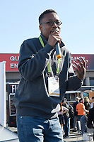 LAS VEGAS, NV - JANUARY 10: Wasalu Jaco professionally known as Lupe Fiasco speaks at the Zero Mass Water Booth during CES 2019 in Las Vegas, Nevada on January 10, 209. Credit: Damairs Carter/MediaPunch