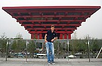 SHANGHAI, CHINA - OCTOBER 11:  Tomas Berdych of Czech Republic poses in front of the China Pavillion as part of a visit to the Shanghai World Expo during day one of the 2010 Shanghai Rolex Masters on October 11, 2010 in Shanghai, China.  (Photo by Victor Fraile/The Power of Sport Images) *** Local Caption *** Tomas Berdych