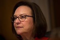 Chair of the US Senate Subcommittee on Transportation and Safety Deb Fischer (Republican of Nebraska) delivers remarks during a US Senate Subcommittee on Transportation and Safety hearing on Capitol Hill in Washington, DC on April 10, 2019.<br /> Credit: Stefani Reynolds / CNP/AdMedia