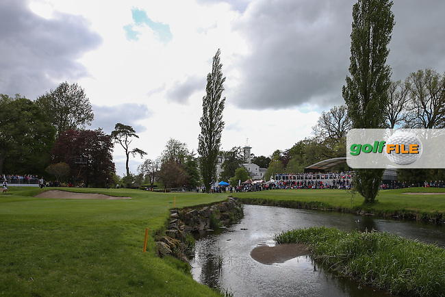View of the 16th during Round One of the 2016 Dubai Duty Free Irish Open Hosted by The Rory Foundation which is played at the K Club Golf Resort, Straffan, Co. Kildare, Ireland. 19/05/2016. Picture Golffile | David Lloyd.<br /> <br /> All photo usage must display a mandatory copyright credit as: &copy; Golffile | David Lloyd.
