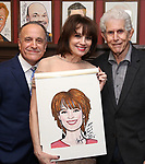 Adam Heller, Beth Leavel and Tony Roberts during the Beth Leavel Portrait unveiling at Sardi's on 3/26/2019 in New York City.