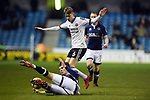 David Brooks of Sheffield United is challenged by Jake Cooper of Millwall during the championship match at The Den Stadium, Millwall. Picture date 2nd December 2017. Picture credit should read: Robin Parker/Sportimage