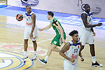 Real Madrid's Dontaye Draper and Darussafaka Dogus's Dairis Bertans during Turkish Airlines Euroleague match between Real Madrid and Darussafaka Dogus at Wizink Center in Madrid, Spain. February 24, 2017. (ALTERPHOTOS/BorjaB.Hojas)