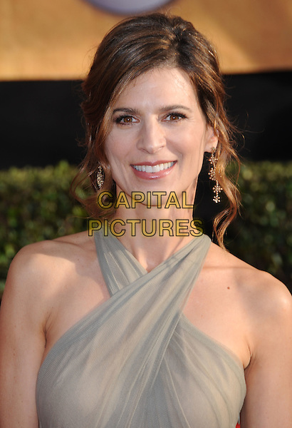 PERREY REEVES .15th Annual Screen Actors Guild Awards held at the Shrine Auditorium,  Los Angeles, California, USA, .25 January 2009..SAG red carpet arrivals portrait headshot hair up grey gray beige .CAP/ADM/BP.©Byron Purvis/Admedia/Capital PIctures
