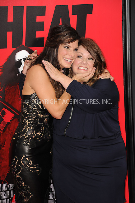 WWW.ACEPIXS.COM<br /> June 23, 2013...New York City <br /> <br /> Sandra Bullock and Melissa McCarthy attend 'The Heat' New York Premiere at the Ziegfeld Theatre on June 23, 2013 in New York City.<br /> <br /> Please byline: Kristin Callahan... ACE<br /> Ace Pictures, Inc: ..tel: (212) 243 8787 or (646) 769 0430..e-mail: info@acepixs.com..web: http://www.acepixs.com