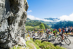 The peloton in action during Stage 13 of the 104th edition of the Tour de France 2017, running 101km from Saint-Girons to Foix, France. 14th July 2017.<br /> Picture: ASO/Alex Broadway | Cyclefile<br /> <br /> <br /> All photos usage must carry mandatory copyright credit (&copy; Cyclefile | ASO/Alex Broadway)