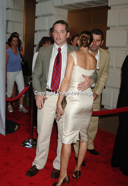 "Matthew Broderick and wife Sarah Jessica Parker..arriving for the Broadway Opening of ""Martin Short: Fame Becomes Me"" on August 17, 2006 at The Bernard B Jacobs Theatre. ..Robin Platzer. Twin Images"