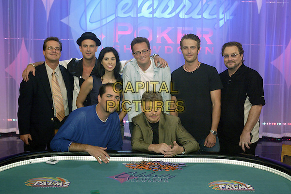 ROBERT THOMPSON, CHRISTOPHER MELONI, SARAH SILVERMAN, PHIL GORDAN, MATTHEW PERRY, DAVE FOLEY, MICHAEL VARTAN & STEPHEN ROOT.in Celebrity Poker Showdown.*Editorial Use Only*.www.capitalpictures.com.sales@capitalpictures.com.Supplied by Capital Pictures.