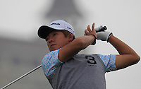 Kim Seung-hyuk (KOR) tees off the 15th tee during Friday's Round 2 of the 2014 BMW Masters held at Lake Malaren, Shanghai, China 31st October 2014.<br /> Picture: Eoin Clarke www.golffile.ie