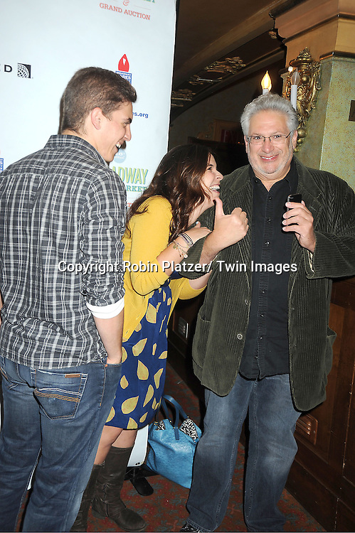 Derek Klena, Lindsay Mendez and Harvey Fierstein  attends the 26th Annual Broadway Flea Market and Grand Auction benefitting Broadway Cares/ Equity Fights Aids on September 23, 2012 at the Shubert Theatre in New York City.