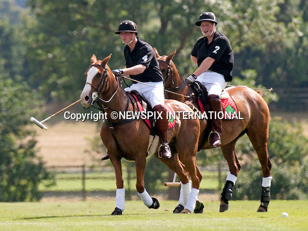 """PRINCES WILLIAM AND HARRY.play in yet another """"private"""" charity match in aid of Sentabale and Tusk Trust, Coworth Park, Windsor_05/07/2009.Mandatory Photo Credit: ©Dias/Newspix International..**ALL FEES PAYABLE TO: """"NEWSPIX INTERNATIONAL""""**..PHOTO CREDIT MANDATORY!!: NEWSPIX INTERNATIONAL(Failure to credit will incur a surcharge of 100% of reproduction fees)..IMMEDIATE CONFIRMATION OF USAGE REQUIRED:.Newspix International, 31 Chinnery Hill, Bishop's Stortford, ENGLAND CM23 3PS.Tel:+441279 324672  ; Fax: +441279656877.Mobile:  0777568 1153.e-mail: info@newspixinternational.co.uk"""