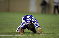 29 October 2005: Dwayne De Rosario of the Earthquakes disappoints after failing to score a goal in the second half of the game at Spartan Stadium in San Jose, California.   LA Galaxy defeated Earthquakes, 4-2 in two games.