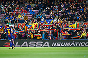 7th January 2018, Camp Nou, Barcelona, Spain; La Liga football, Barcelona versus Levante; Barcelona supporters get behind their team