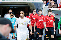 Sunday, 23 November 2012<br /> <br /> Pictured: Ashley Williams of Swansea City<br /> <br /> Re: Barclays Premier League, Swansea City FC v Manchester United at the Liberty Stadium, south Wales.