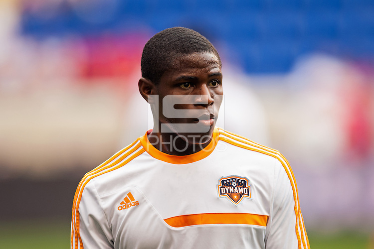 Kofi Sarkodie (8)of the Houston Dynamo. The New York Red Bulls defeated the Houston Dynamo 2-0 during a Major League Soccer (MLS) match at Red Bull Arena in Harrison, NJ, on June 30, 2013.