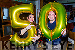Paudie O'Shea from Tralee celebrating his 50th birthday with his wife Dyanne in Gallys on Saturday